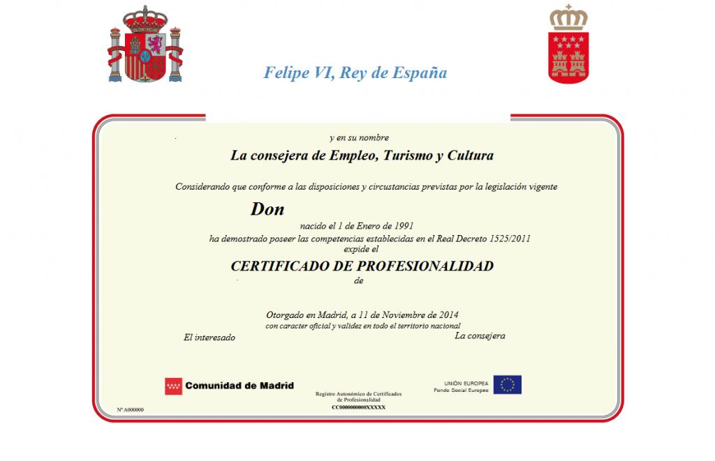 Como obtener el certificado de profesionalidad por experiencia