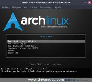 descargar Arch Linux