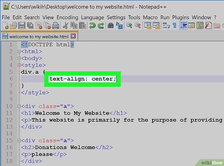 Cómo centrar el texto en HTML