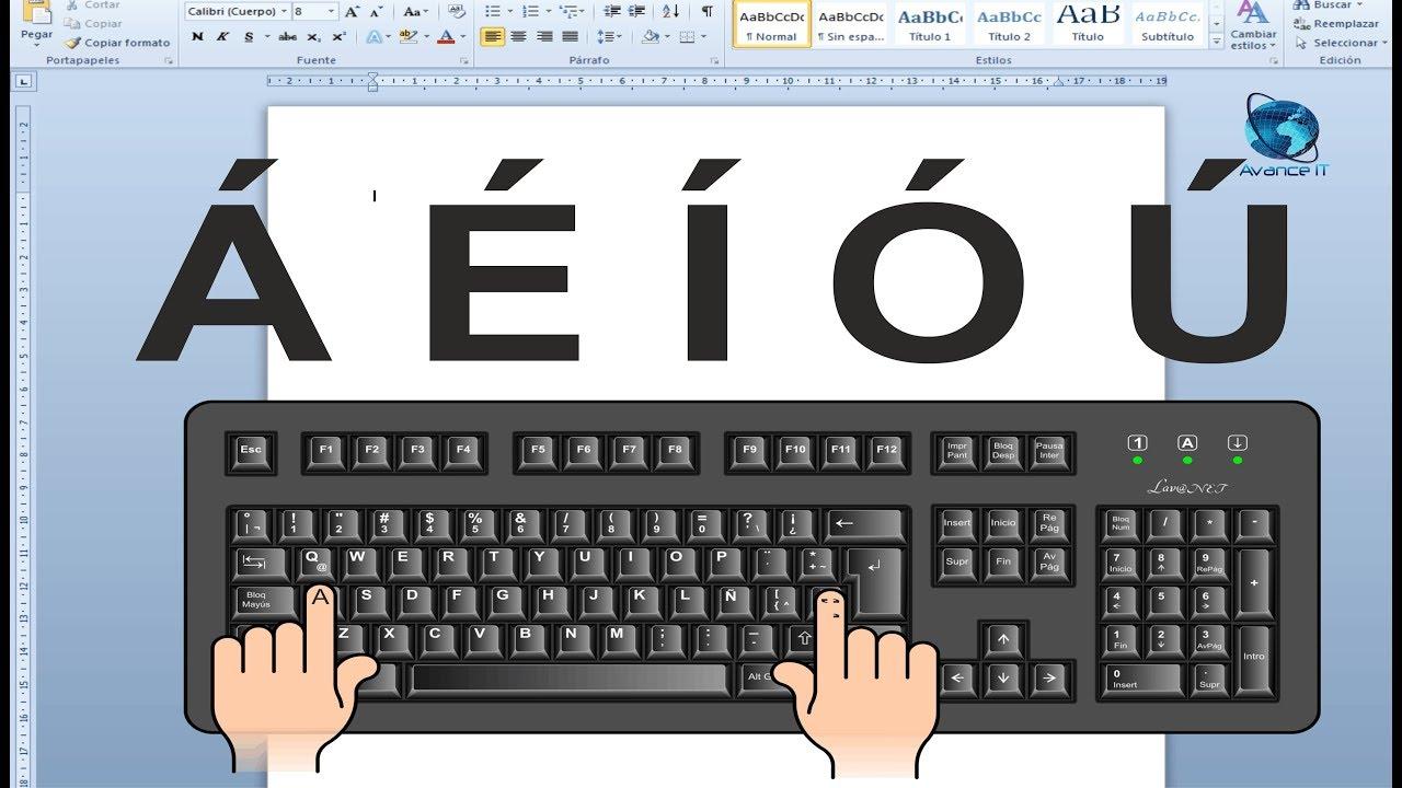 Como ponerle acento a las letras en Word