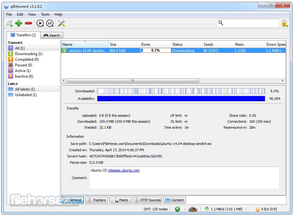como acelerar las descargas en qBittorrent