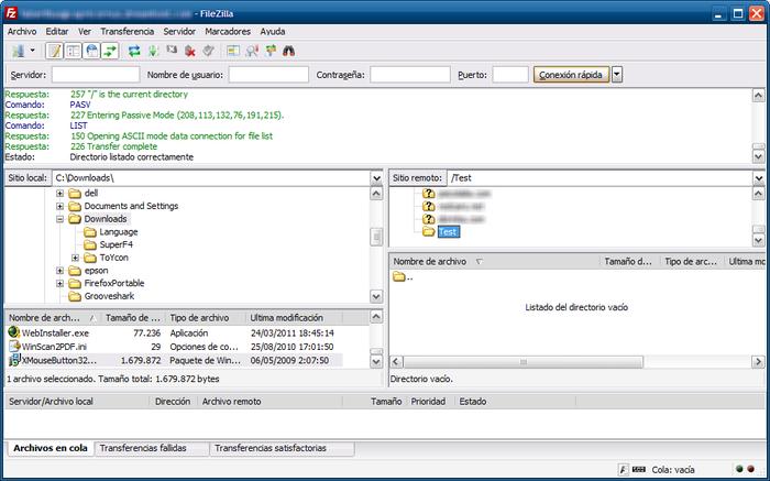 como subir archivos por FTP con FileZilla
