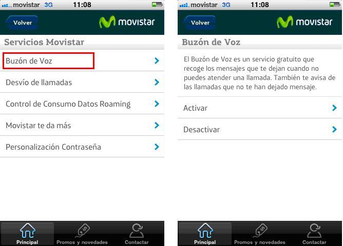 como desactivar el buzón de voz Movistar