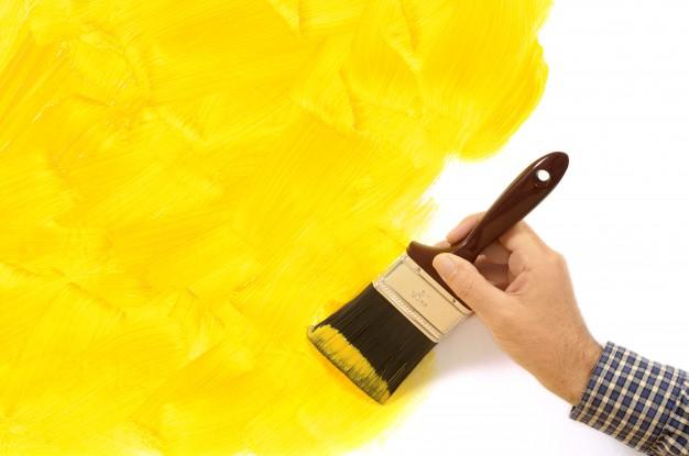 como hacer tinta amarilla
