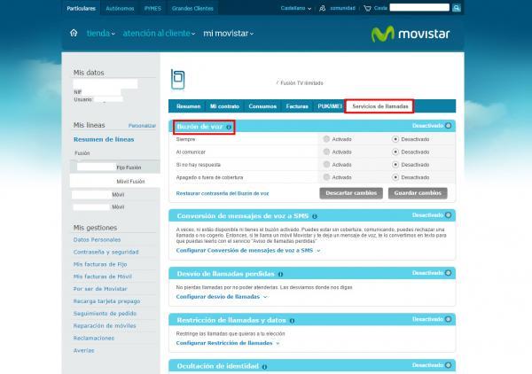 como quitar el contestador de Movistar