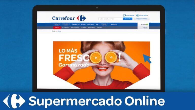 como comprar online en Carrefour