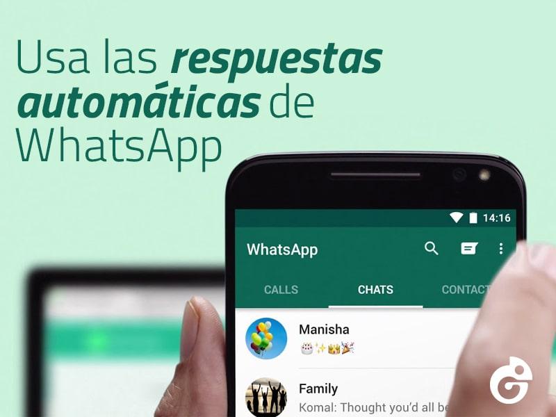 activar una respuesta automática en WhatsApp
