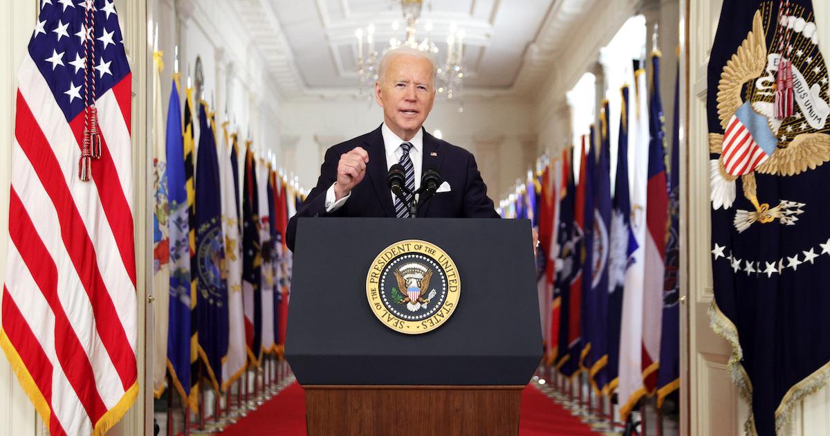 El presidente Biden se dirige al pueblo estadounidense.