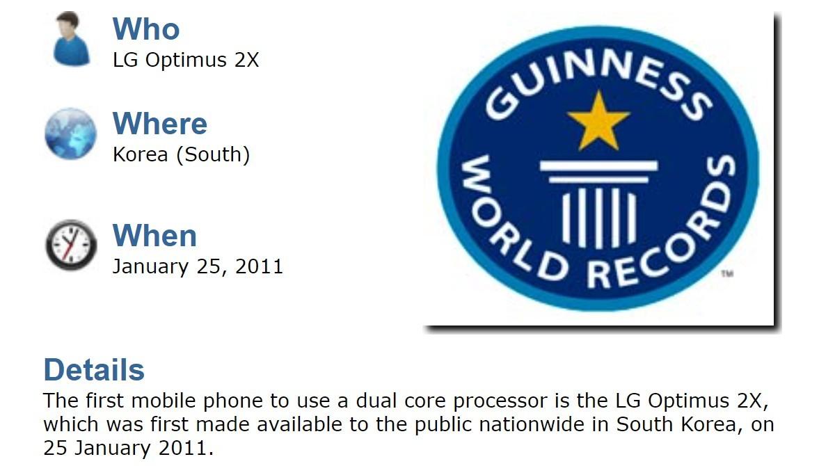 El LG Optimus 2X fue el primer teléfono con un procesador de doble núcleo