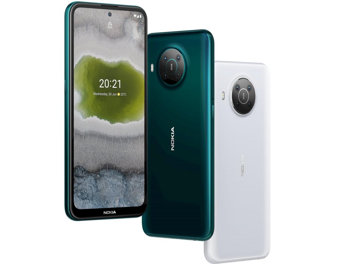 El Nokia X10 es muy similar al X20, excepto por la actualización a una cámara principal de 48 MP y una cámara para selfies de 8 MP.