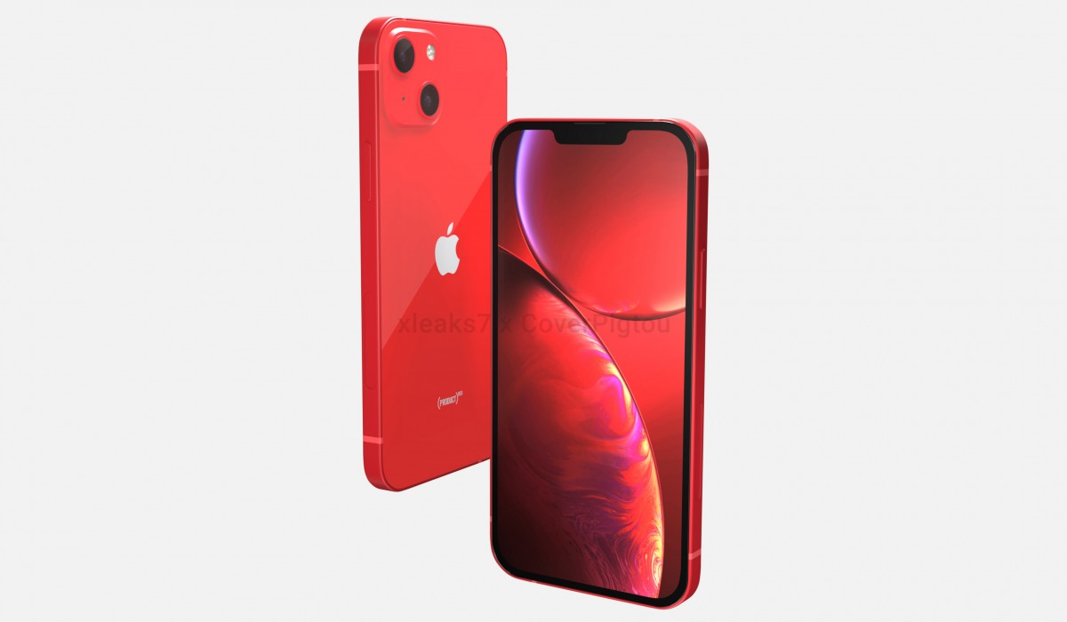 El Apple iPhone 13 en Product Red aparece en las representaciones