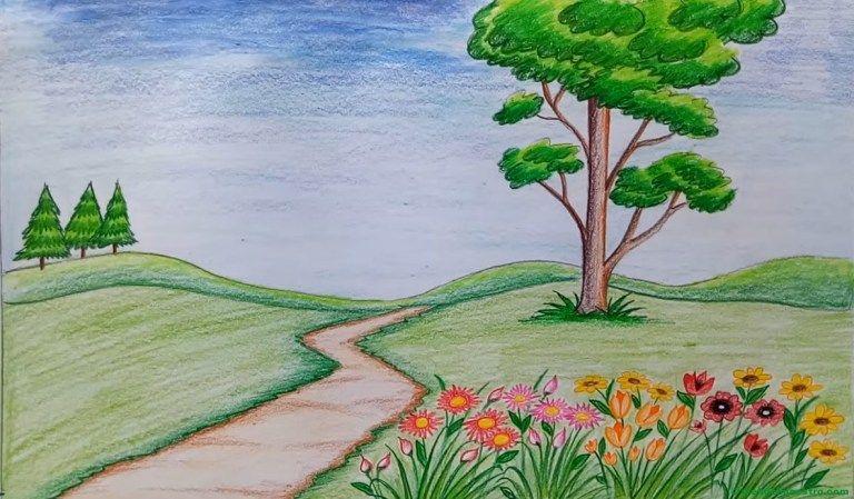 Como dibujar y pintar un paisaje