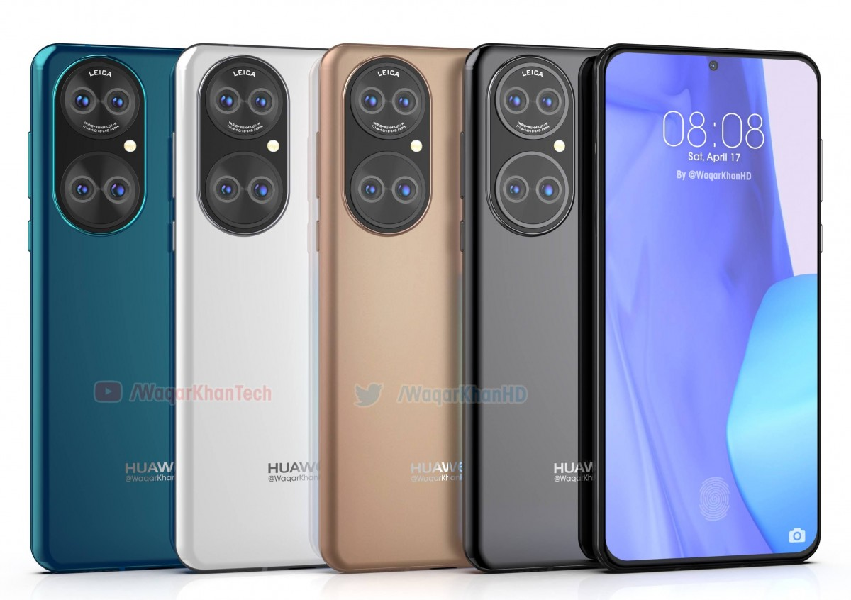 Huawei P50 se filtra en representaciones de alta calidad