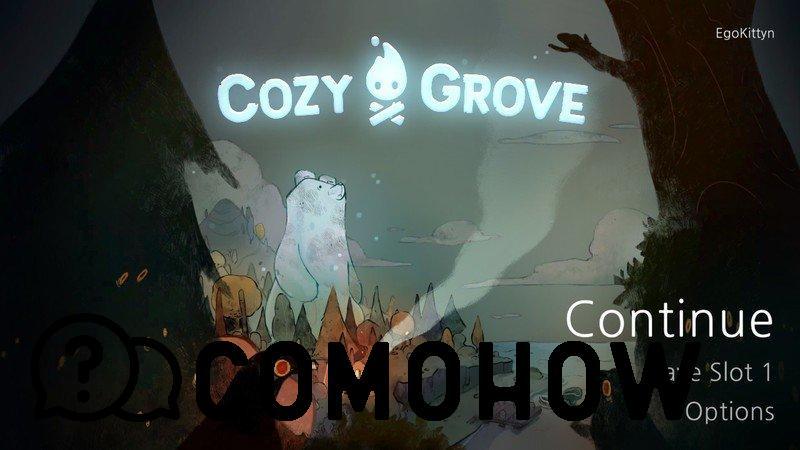 Pantalla de apertura de Cozy Grove