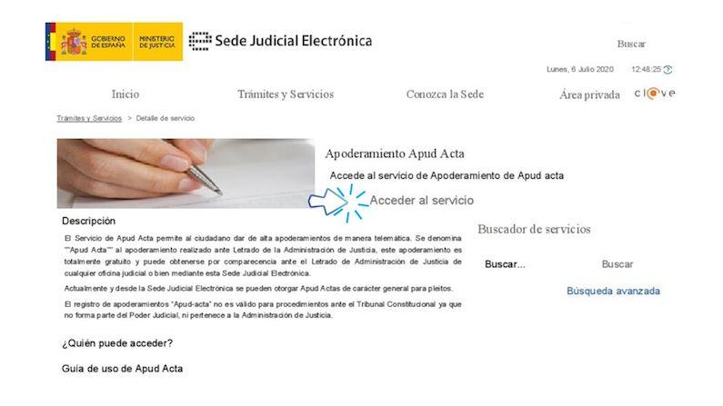 Apud acta electronico